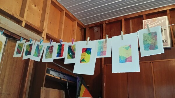 Printmaking at 2015 Arts West Artcamp