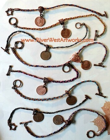 Pennywork Bracelets and Anklets