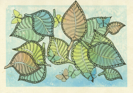 Butterflies and Leaves #2