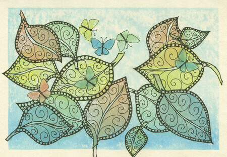 Butterflies and Leaves #3